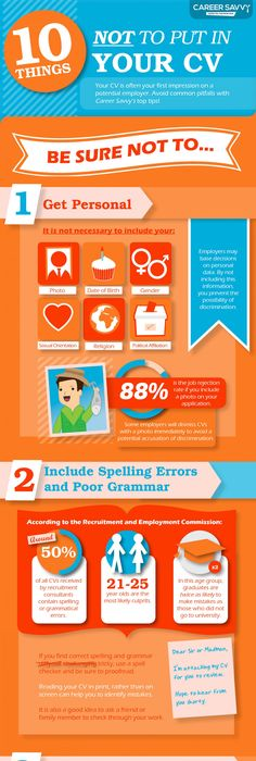 Things Not To Put On A Resume Enchanting The Perfect Modern Resume Infographic  Infographics  Pinterest .
