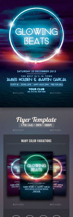 Deluxe Nightclub Flyer Psd flyer templates, Flyer template and