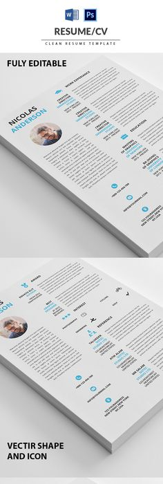 Resume Template 4 page pack CURRICULUM Pinterest Template, Cv