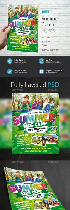 Summer Camp Flyer  Camping Summer And Brochures