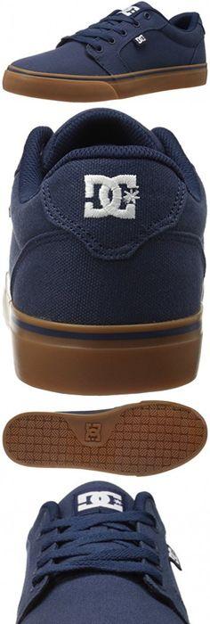 DC Men's Anvil TX Skate Shoe, Navy/Gum, ...