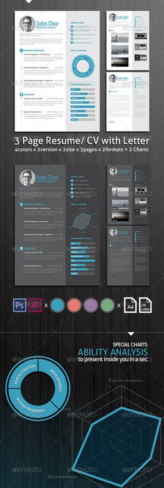 Creative Resume Template Creative resume templates, Template and - 3 resume formats