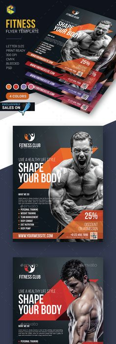Fitness Flyer  Flyer Template Template And Flyer Design Templates