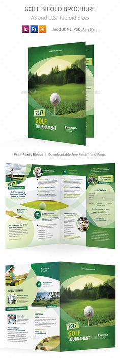 Golf Tournament Brochure Trifold  Flyer Ad  Brochures Golf And