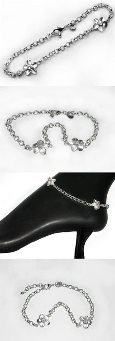 inches quot butterfly bell sterling bracelets dp anklet adjustable silver to with ankle
