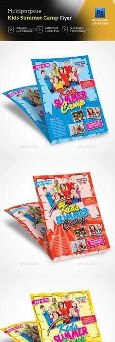 Best Kids Summer Camp Flyer Professional Creative Design
