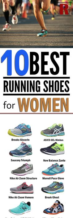 List of 10 Best running shoes for women with flat feet, high arches, knee
