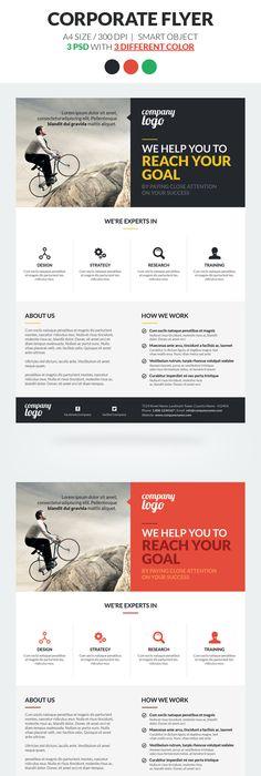cool Corporate Flyer Templates Design inspiration Pinterest - sell sheet template