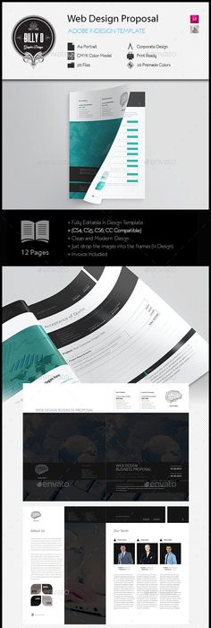 Web Design Proposal Template Document Pinterest Proposal