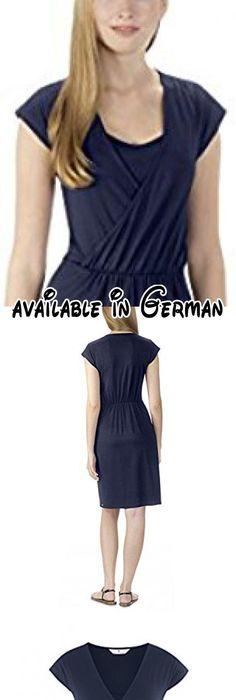 Bellybutton Damen Umstandskleid RISA - Stillkleid 1/4 Arm, Knielang,  Einfarbig, Gr