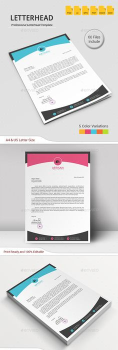Letterhead Very Classy Deep Black And White Look  Personal
