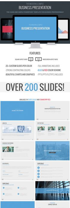 Clean Powerpoint Presentation Template Design Slides Download