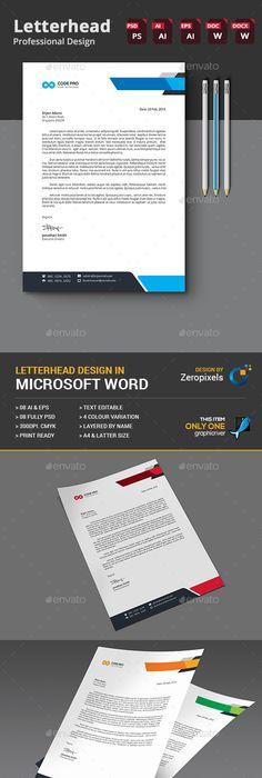 Letterhead A4, Illustrators and Fonts - letterhead example