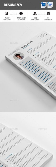 Resume - Resumes Stationery Download here   graphicrivernet - resume download