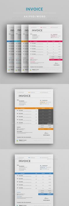 Invoice 1 Template, Print templates and Brochures