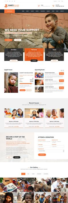 Kind Charity is a unique and decent style #Bootstrap #HTML Template