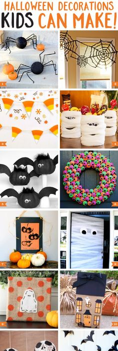 12 Halloween Crafts and Treats Fun halloween crafts, Halloween - fun and easy halloween decorations