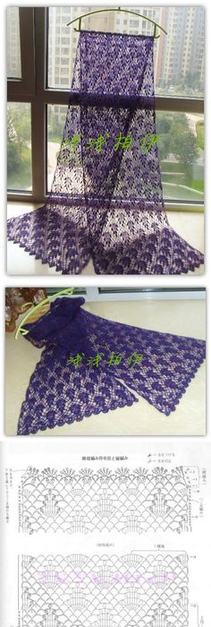 Inspirações de Croche com Any Lucy: Xale | Crochet Esquemas ...