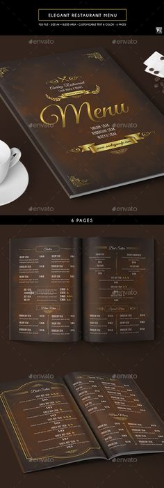 Japanese Trifold Menu  Menu Template And Print Templates