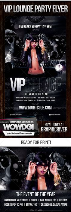 Lounge Party Flyer Graphicriver Party Flyer Template With