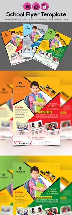 School Flyer Psd templates, Template and Flyer template