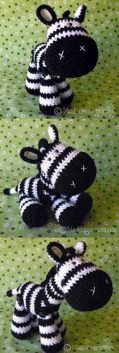 Free zebra pattern crochet pinterest patterns crochet and zeb the zebra amigurumi pattern by janice cyr madisonscraftnook dt1010fo