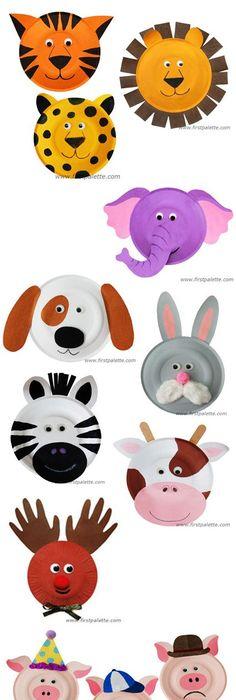 1 assiette en carton + de la peinture \u003d un bestiaire réussi / 1 paper plate  sc 1 st  Pinterest & Paper Plate Animals Craft | Kids\u0027 Crafts | FirstPalette.com ...