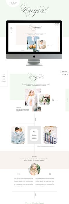 custom squarespace template inspiration - this is soooo gorgeous and