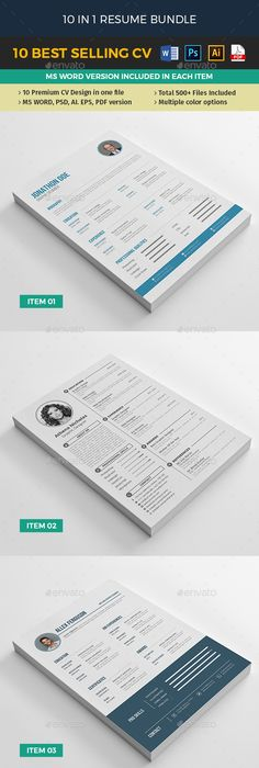 Resume CV exclusive - Resumes Stationery Resume Templates