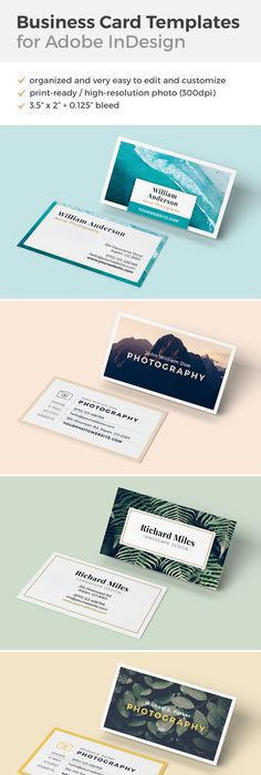 Beautiful business card template for adobe indesign with an ocean clean and elegant business card templates for adobe indesign on creativemarket reheart Choice Image