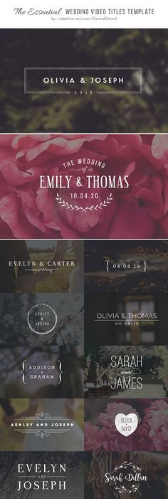 Interactive Wedding Book Template for iBooks Author - Make your