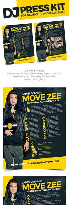 Roll - DJ Press Kit / DJ Resume / DJ Rider PSD Template Press kits