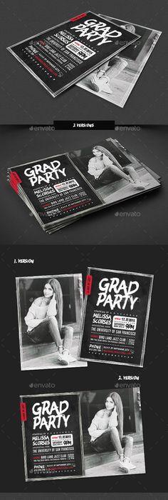 Chalkboard Graduation Invitation Package  Template Print
