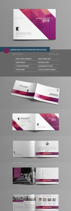 Page Brochure Template For Indesign  Would Work For MagcloudS