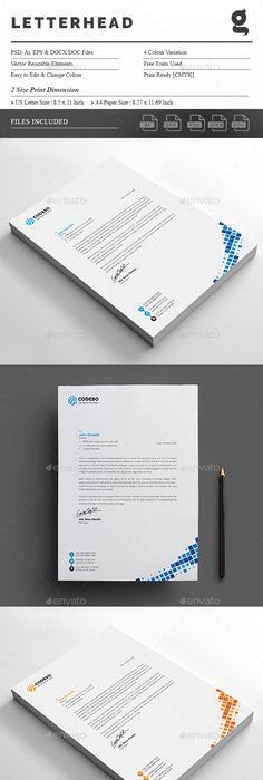 Corporate letterhead letterhead template template and stationery corporate business letterhead design template stationery print template psd vector eps ai illustrator spiritdancerdesigns Choice Image