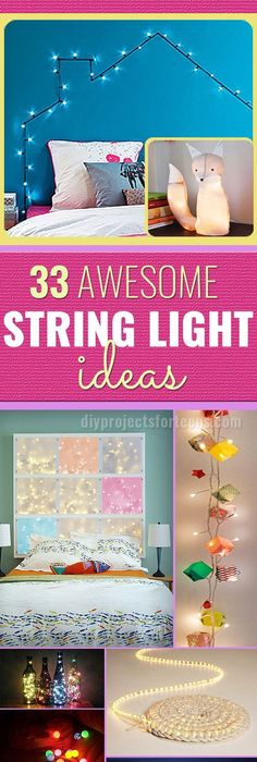 string light diy ideas cool home. 33 Awesome DIY String Light Ideas Diy Cool Home