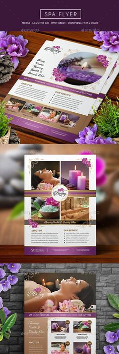 Beauty Spa And Massage Flyer Template  Business Flyers