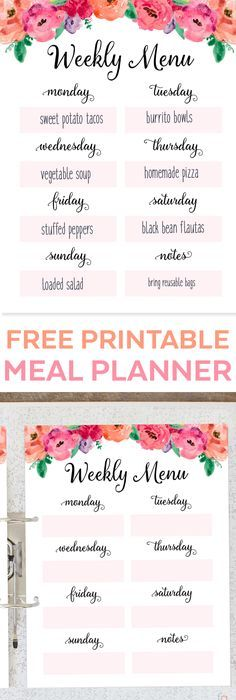Weekly Meal Plan for Happy Planer Free Planner Inserts, Covers - best of invitation wording lunch to follow