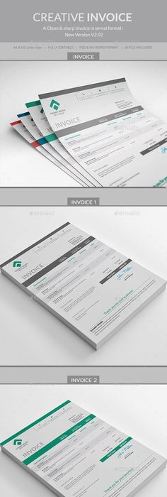 A Huge Set Of Printable Business Templates Including Invoice