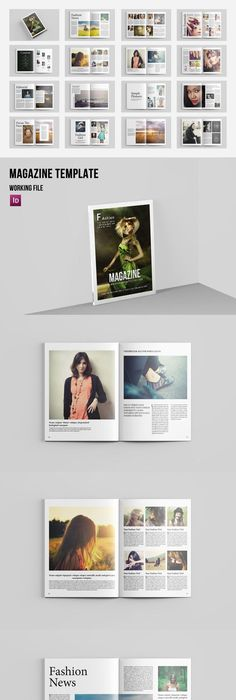 Indesign Magazine Template #2 | Indesign magazine templates ...