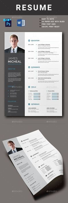 Infographic Resume Vol1 Infographic resume, Infographic and Template