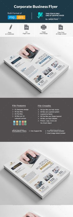 Corporate Business Flyer Template Psd Vector Eps Ai Flyer