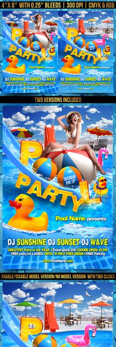 Pool Party Flyer  Flyer Templates    Party Flyer