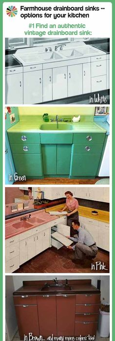 Check Out Our New Farmhouse Drainboard Sinks Page   Retro Renovation Ideas
