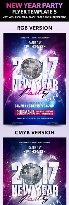 New Year Psd Flyer Template  Photoshop Psd Nye Party Flyer