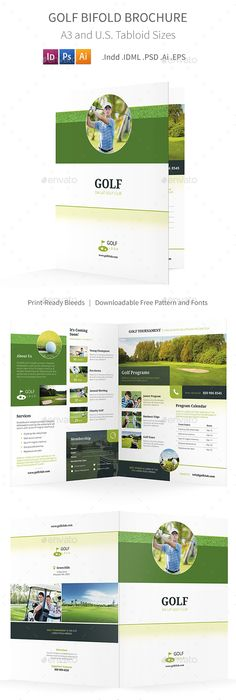 Creative Booklet / Brochure V2 Brochures, Corporate brochure and - half fold brochure template