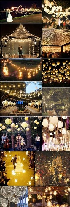 30 Creative Ways to Light Your Wedding Day Evening wedding