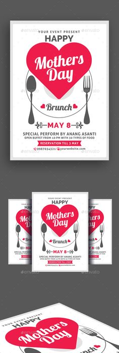 Mothers Day Brunch Flyer Poster  Brunch Template And Event Flyers