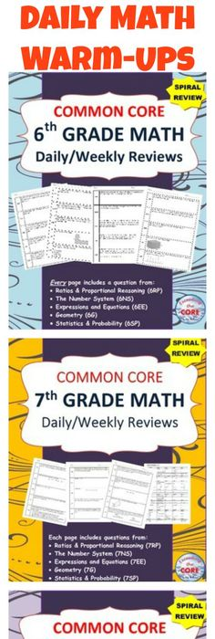 Collaborative problem solving in math common core standards 6th 7th 8th grade dailyweekly spiral math review common core bundle fandeluxe Choice Image