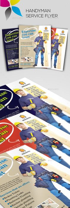 Home Repair Flyer  Edit Logo Handy Man And Fonts